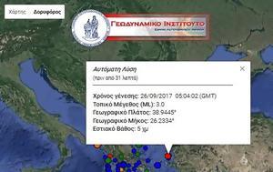 Πρωινός σεισμός 3 Ρίχτερ, Λέσβο, proinos seismos 3 richter, lesvo