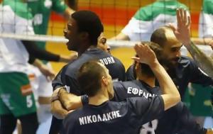 Νίκη, Κηφισιάς, ΠΑΟ, 3-1, Volley League Ανδρών, niki, kifisias, pao, 3-1, Volley League andron