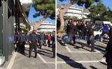 Η στιγμή της σύλληψης του άνδρα που τραυμάτισε αστυνομικό για να μην πάρει κλήση,