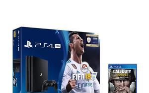Sony PlayStation Pro 1TB + FIFA 18 + Call, Duty, WWII PS4, €379