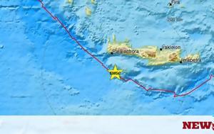 Σεισμός ΤΩΡΑ, Ταρακουνήθηκε, Κρήτη, seismos tora, tarakounithike, kriti