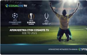 Champions League, Europa League, COSMOTE TV, 2021