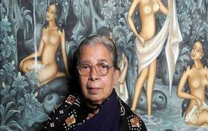 Mahasweta Devi, Ινδής, Doodle, Google, Mahasweta Devi, indis, Doodle, Google