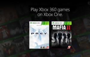 Mafia 2, Prey, Xbox One