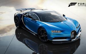Bugatti Chiron, Kia Stinger GT, Forza Motorsport 7