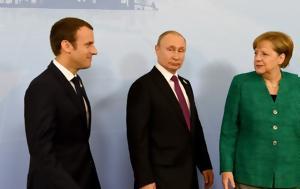 Συνεργασία Πούτιν- Μέρκελ- Μακρόν, Συρία, synergasia poutin- merkel- makron, syria