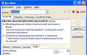 WordWeb 8 11 -, Αγγλικό, WordWeb 8 11 -, angliko