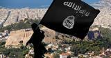 Σημαίες, ISIS, Αθήνας - Άντρο, Εξάρχεια,simaies, ISIS, athinas - antro, exarcheia