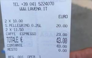 Πλήρωσαν 43€, plirosan 43€