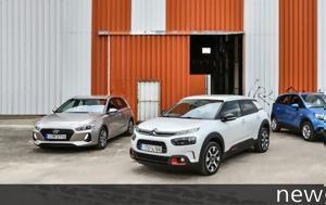 Συγκρίνουμε, Citroen C4 Cactus, Hyundai 30, Opel Crossland X, sygkrinoume, Citroen C4 Cactus, Hyundai 30, Opel Crossland X