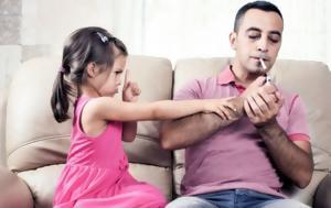 Oι κίνδυνοι για τα παιδιά από ενήλικες που καπνίζουν