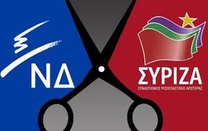 Τρεις, ΝΔ – ΣΥΡΙΖΑ, treis, nd – syriza