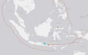 Σεισμική, 6 Ρίχτερ, Ινδονησίας, seismiki, 6 richter, indonisias