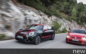 Συγκρίνουμε, Mini JCW Clubman All4 VS VW Golf GTI Performance, sygkrinoume, Mini JCW Clubman All4 VS VW Golf GTI Performance