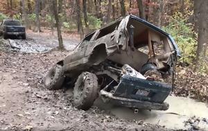 Σκουριασμένο Jeep Cherokee, skouriasmeno Jeep Cherokee