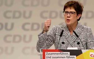 Άνεγκρετ Κραμπ-Καρενμπάουερ, Πρόεδρος, CDU, anegkret krab-karenbaouer, proedros, CDU