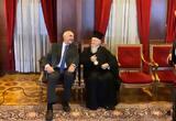Συνάντηση Βαγγέλη Μεϊμαράκη, Οικουμενικό Πατριάρχη,synantisi vangeli meimaraki, oikoumeniko patriarchi