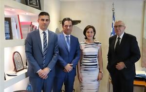 New Development-Investments Minister Georgiadis, Israeli Amb, Ben-Abba