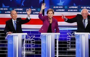 Debate Δημοκρατικών, Όλοι, Μπλούμπεργκ, Σάντερς, Debate dimokratikon, oloi, bloubergk, santers