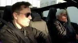 Jay Leno, Elon Musk,Tesla Cybertruck