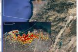 Έκρηξη, Βηρυτό, Χάρτης, NASA,ekrixi, viryto, chartis, NASA