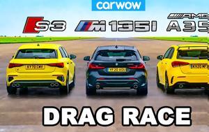 Audi S3 Vs BMW M135i Vs AMG A35, Ποιο, Audi S3 Vs BMW M135i Vs AMG A35, poio