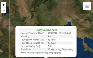 Σεισμός 6 Ρίχτερ, Ελασσόνα, Έγινε, Λάρισα, – Συνεχείς, seismos 6 richter, elassona, egine, larisa, – synecheis