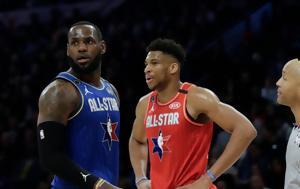 NBA All Star Game, Λεμπρόν, Αντετοκούνμπο, -Τα, NBA All Star Game, lebron, antetokounbo, -ta
