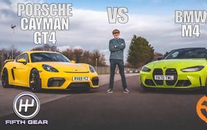 BMW M4 Competition Vs Porsche 718 Cayman GT4, Ποιο, BMW M4 Competition Vs Porsche 718 Cayman GT4, poio